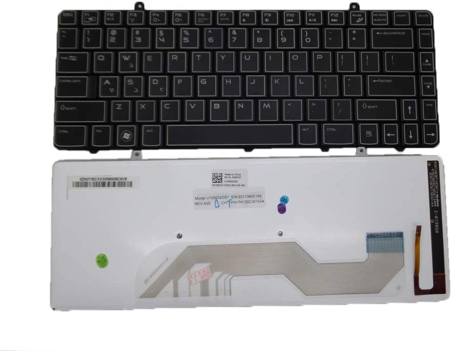 Keyboard go go go Layout Notebook Keyboard for Dell Alienware 17 R2 17 R3 PK1318F1A00 NSK-LC1BC 01 02C6KH 2C6KH Series Black with Backlight