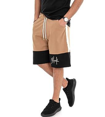Giosal Pantalón Corto Bermuda Chándal Hombre Pantalón Corto ...