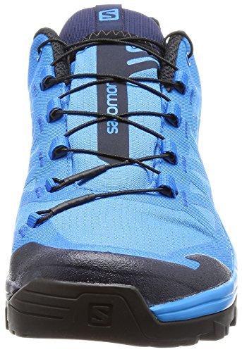 Salomon Men's Outpath GTX Mesh, Textile Hiking Sneakers Indigo Bunting, Navy Blazer, Black