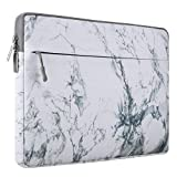MOSISO Laptop Sleeve Bag Compatible 13-13.3 Inch MacBook Air, MacBook Pro Retina, Surface Book, Surface Laptop, Protective Chromebook Marble Pattern Carrying Case Cover, White