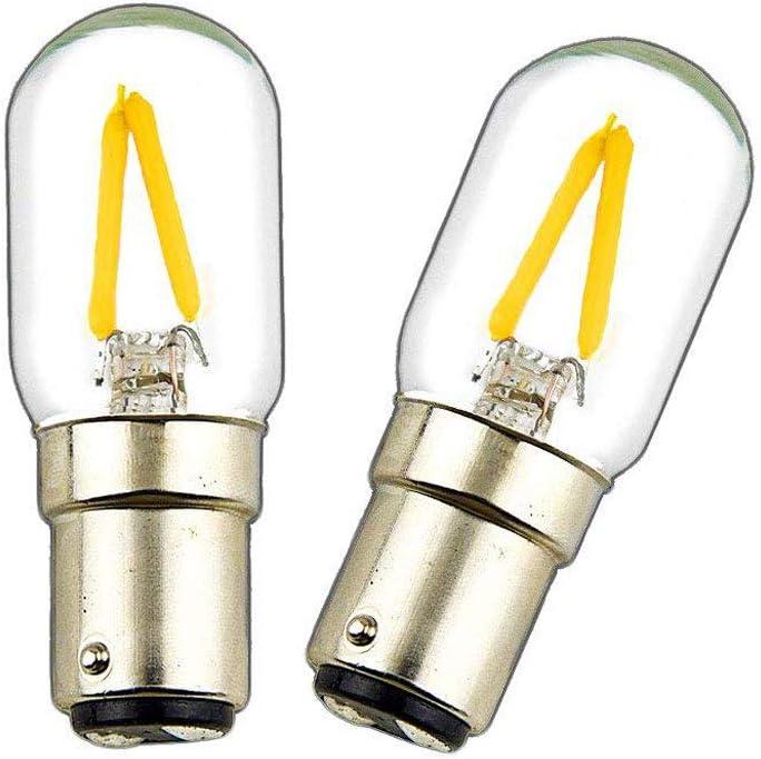 LuxVista 2W BA15D 220V LED Bombilla Filamento con 150 Lúmenes ...