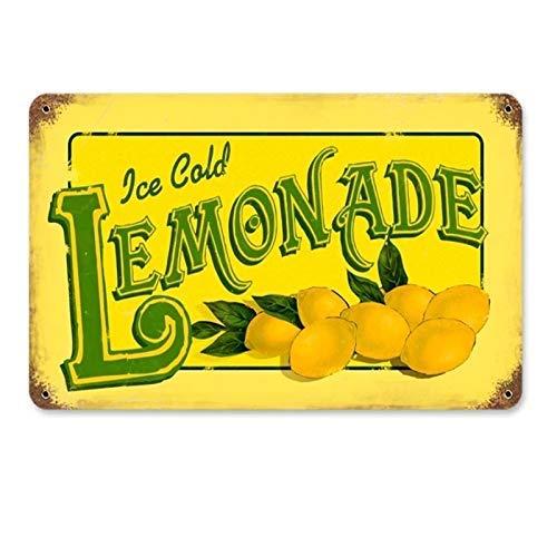 APCA Lemonade Tin Sign Metal Sign TIN Sign 7.8X11.8 INCH (Vintage Lemonade)