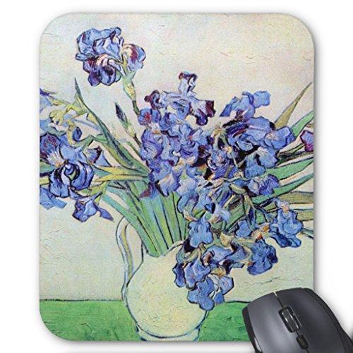 Zazzle Van Gogh Vase with Irises, Vintage Floral Fine Art Mouse Pad