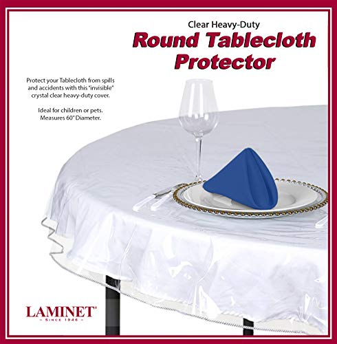 (Heavy Duty Deluxe Clear Vinyl Tablecloth Protector (60