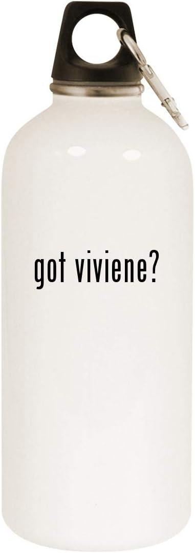 got viviene? - 20oz Stainless Steel White Water Bottle with Carabiner, White 51D2Bah6dnNL