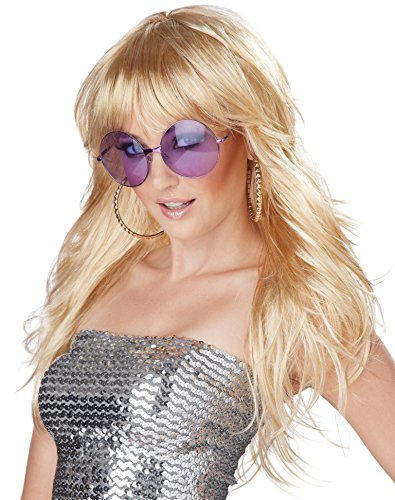 California Costumes Women's Fever! Wig 70's 80's Disco Pop Dance Diva, Blonde, One (80's Dance Costumes)
