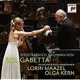 Shostakovich Cello Concerto No. 1 / Rachmaninov Sonata for Cello and Piano op. 19 by Sol Gabetta (2012-11-19)