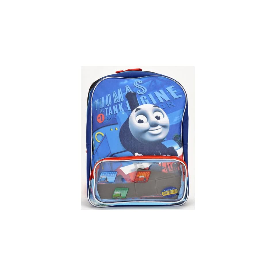 """Birthday Christmas Gift   Thomas the Train Large Backpack and Tumbler Set, Backpack Size Approximately 16"""" Toys & Games"""