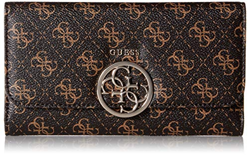 GUESS Kamryn Q-Logo Multi Clutch Wallet, Brown