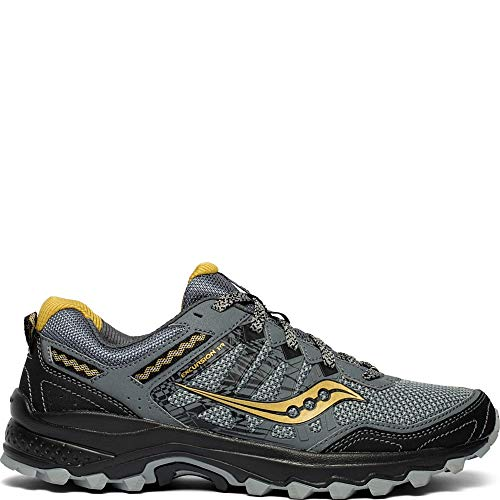 Saucony Men's Grid Excursion TR12 Trail Running Shoe, Silver/Gold, 10.5 M US