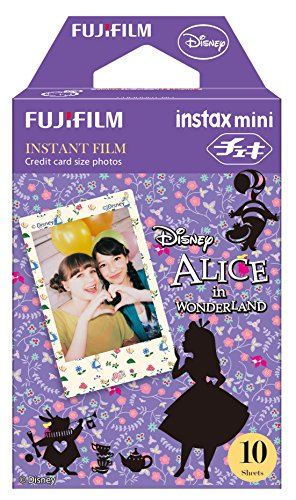 Fuji Instax Mini Films - Disney Alice in Wonderland | Usable with Polaroid Mio & 300 (Alice In Wonderland Shop)
