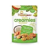 Happy Baby Organic Creamies Freeze-Dried Veggie & Fruit Snacks with Coconut Milk Apple Spinach Pea &...