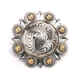 """Berry Concho Silver with Rose Gold Screw Back 1"""" 7862-NG"""