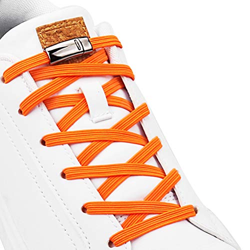 Aiboxin Upgraded Version No Tie Elastic Shoelaces, with Magnetic laces Lock - One Size Fits All Adult and Kids Shoes