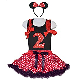 - 51D 2BcISY5xL - Red/White Polka Dots Costumes for Birthday Party-Tutu w/Tank Top & Headband