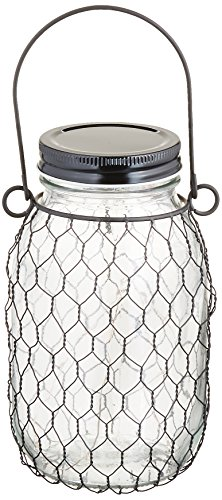"Gerson 93241 6.9"" H Battery Operated Clear Mason Jar 6.9'..."