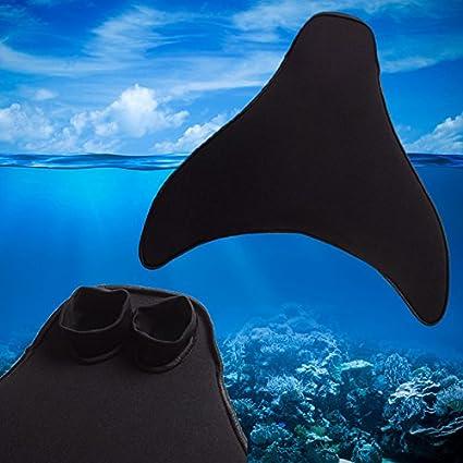 ni/ños y adultos ni/ños JUHUIZHE Colas de sirena con monoaleta para nataci/ón y entrenamiento c/ómodo para ni/ños y adultos ni/ñas