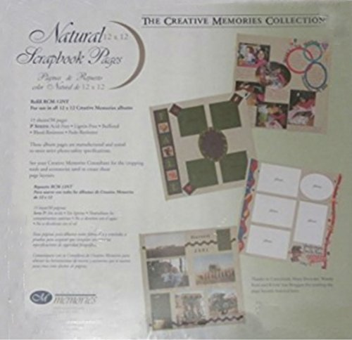 Creative Memories 12 x 12 Natural Scrapbook Pages 15 Sheets