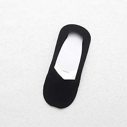 Calcetines barco mens Summer light de puro algodón invisibles calcetines antideslizantes anti-olores de color