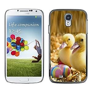 LECELL--Funda protectora / Cubierta / Piel For Samsung Galaxy S4 -- Patitos Felices --
