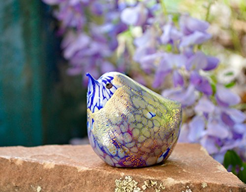 Murano Art Glass Bird - Murano Glass Bird Blown, Cobalt