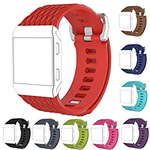 StrapsCo Rubber Watch Band Strap for Fitbit Ionic - Small/Large