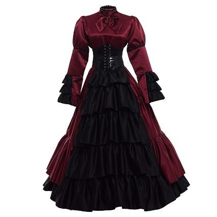GRACEART -  Disfraz de Reina Medieval Vestido - vestido medieval/gotico.