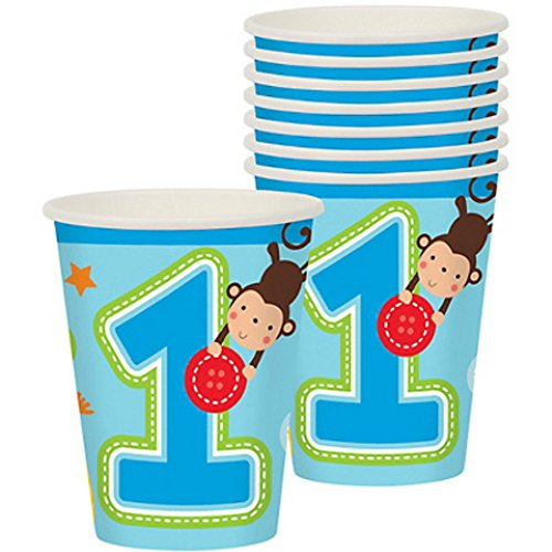 1st Birthday 'One Wild Boy' 9oz Paper Cups (8ct)