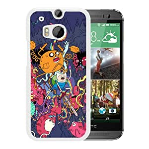 Grace Protactive Adventure Time White Case Cover for HTC ONE M8