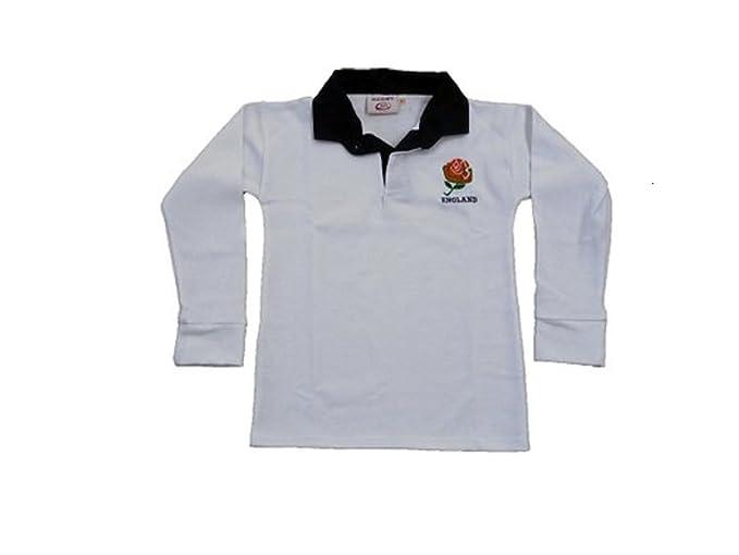 Inglaterra Inglés Retro Rosa Rugby Camisas Adultos S M L XL XXL 3 X L 4 X L 5 X L Full Funda Exclusivo. Blanco Blanco XXXXXL: Amazon.es: Ropa y accesorios