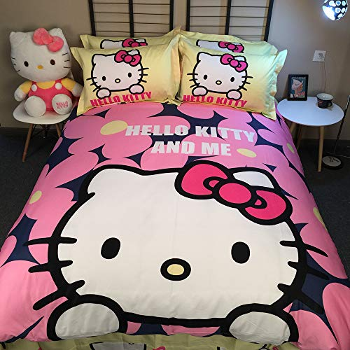 740341245c28 Warm Embrace Kids Bedding Set 100% Natural Cotton Girls Bed in a Bag Hello  Kitty