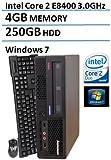 Lenovo ThinkCentre M58P Ultra Small Form Factor Business Desktop(Intel Core 2 Duo E8400 3.0GHz), 4GB DDR3 RAM, 250GB HDD, DVD, Gigabit Ethernet, VGA, Windows 7 Professional (Certified Refurbished)