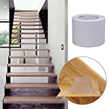 ZHU ZI Anti-slip Cut Transparent Tape, Clear Tape Safe For Kids, Person And The Elderly Pvc Free Great For All Kind Of Environments Outdoor Or Indoors ((White - 4'' width x 33' long))