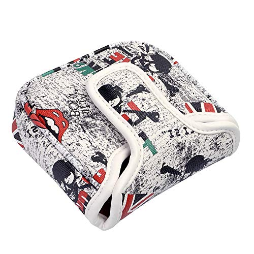(COOLSKY Golf Mallet Putter Cover Magnetic Closure Design Camouflage/Newspaper/UK Flag/USA Flag Putter Head Cover Creative Pattern)