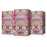 Pukka Herbs Organic Womankind Herbal Tea, 20 individually wrapped tea bags, 3 Count