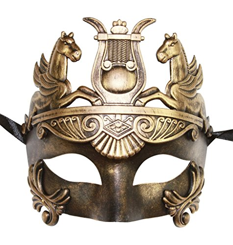 Masculine Greek & Roman Soldier Men Venetian Masquerade Mask (Vintage (Men Masquerade Mask)