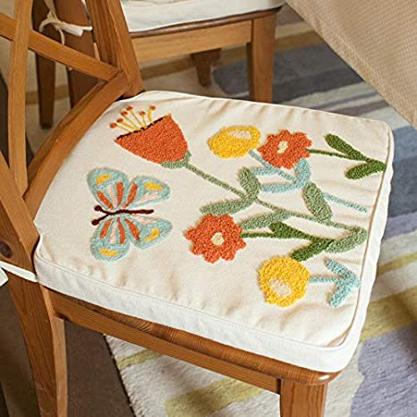 Amazon.com: Tarohome- Cojín para asiento de silla, bordado ...