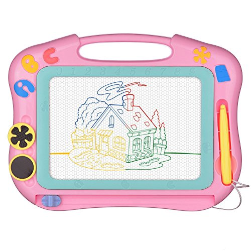 SLHFPX Magna Doodle Etch a Sketch Present for 1 2 3 4 Year Old Girl,Magnetic Drawing Board Gift for 2 3 4 Year Old Girl Toy Age 1 2 3 Birthday Gift for 2 3 4 Year Old Girls Small Toys for Travel