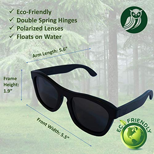 Amazon.com: Gafas de sol de ébano.: Clothing