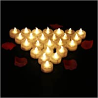 24 Velas LED Sin Fuego - Glamouric Velas Electrónicas con Baterías Incorporadas Perfectas para San Valentín, Cumpleaños…