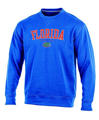 Fleece Adult Sweatshirt Crewneck (Champion (CHAFK) NCAA Florida Gators Adult Men Crew Neck Fleece, Medium, Blue)