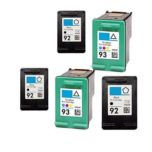 (Unknown Remanufactured Ink Cartridge Replacement for 3 x HP C9362WN + 2 x C9361WN (Black Color 5-Pack))