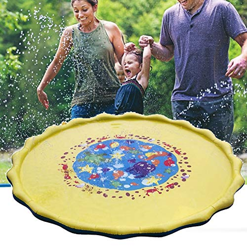 Tpingfe Kids Water Sprinkle and Pad Play Mat Diameter Sprinkle Play Mat ()