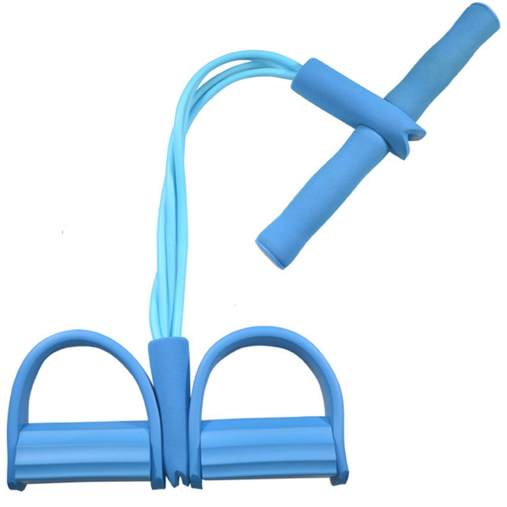 Amazon.com : 4-Tube Foot Pedal Pull Rope Resistance Exercise Sit-up Fitness Yoga Equipment : Sports & Outdoors