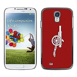 Caucho caso de Shell duro de la cubierta de accesorios de protección BY RAYDREAMMM - Samsung Galaxy S4 I9500 - Red Cannon