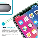 Tech Armor Apple iPhone X Ballistic Glass Screen Protector [2-Pack] Case-Friendly Tempered Glass, 3D Touch Accurate for New 2017 Apple iPhone X