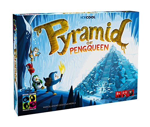 BRAIN GAMES Pyramid of Pengqueen 3D Board Game - A Thrilling Hide & Seek Game - Award Winning Strategy Game for Children, Families & Casual Gamers