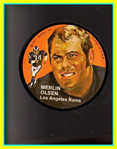 - 1971 Mattel Mini-Records #FB13 Merlin Olsen Los Angeles Rams