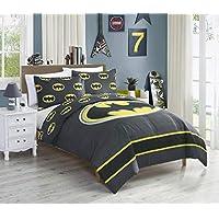 Deals on JPI DC Comics Batman Emblem 2-Pcs Reversible Twin Comforter Set