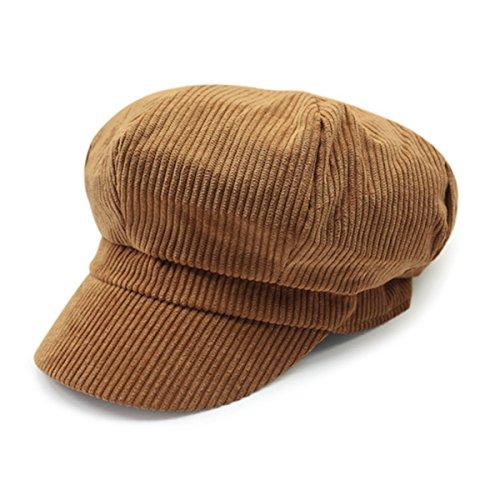 Newsboy Hats For Women - ZLS Women's Retro Peaked Ivy Newsboy Paperboy Gatsby Cabbie Painter Cap Hats (5-Tan)